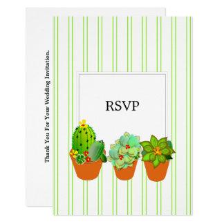 Cartão Os potes botânicos da planta do Succulent