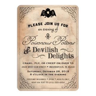 Cartão Os prazeres diabólicos do vintage elegante do Dia