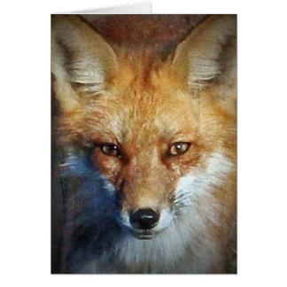 Cartão Os presentes & cumprimentos do Fox vermelho