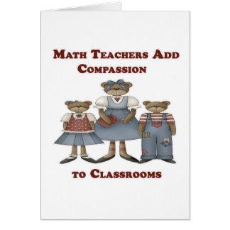 Cartão Os professores de matemática adicionam a piedade