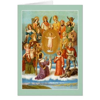 Cartão Os quatorze ajudantes santamente