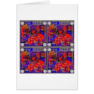 Cartão Os quatro conselhos de circuito impresso (PCB)