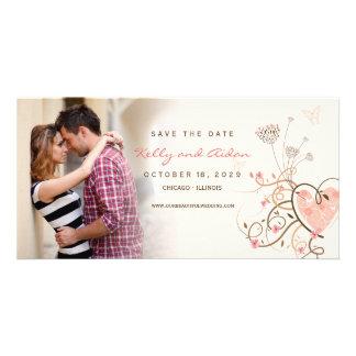 Cartão Os redemoinhos cor-de-rosa da borboleta do querido