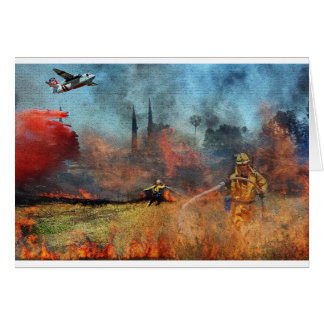 Cartão Os sapadores-bombeiros são nossos heróis
