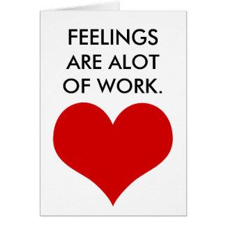 Cartão os sentimentos engraçados do dia dos namorados são