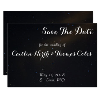 Cartão Os sonhos celestiais salvar a data