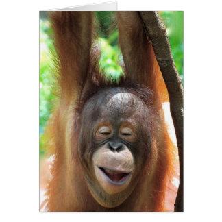Cartão Os sorrisos do grande macaco fazem a vida melhor