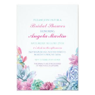 Cartão Os Succulents da festa de solteira do chá de