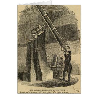 Cartão Os telescópios os maiores