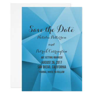 Cartão Os tons da jóia da safira salvar a data convidam