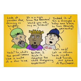 Cartão Os três homens Não-Assim-Sábios