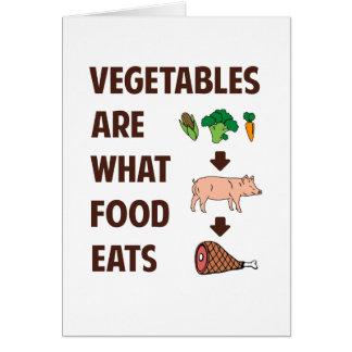 Cartão Os vegetais são o que a comida come