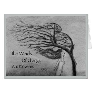 Cartão Os ventos da mudança - interior do vazio -