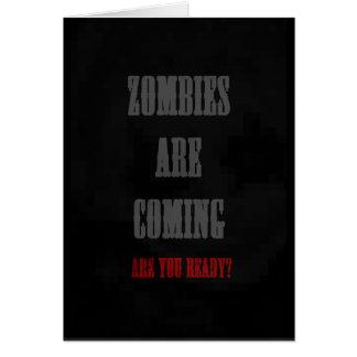 Cartão os zombis estão vindo