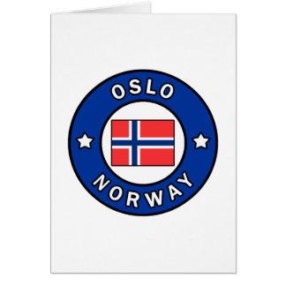Cartão Oslo Noruega