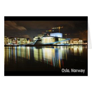 Cartão Oslo, Noruega na noite