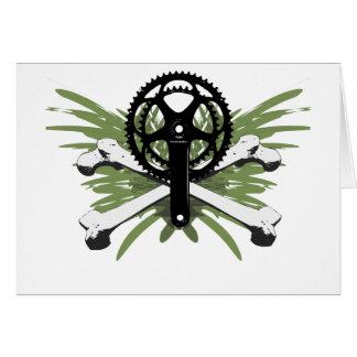Cartão Ossos de Crankset - verde