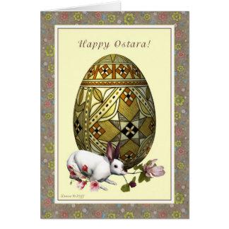 Cartão Ostara feliz - equinócio Vernal - flores da lebre
