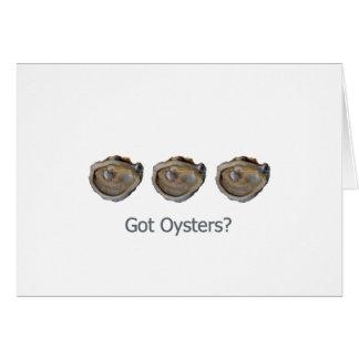Cartão ostras obtidas?