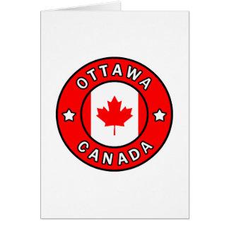 Cartão Ottawa Canadá