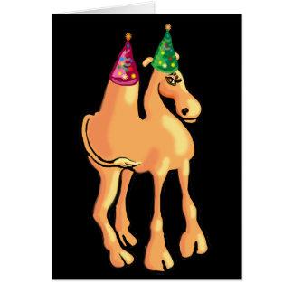 Cartão ou convite de Natal do camelo