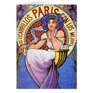 Cartão ou convite: Ilustração de Nouveau da arte