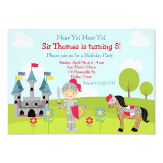 Cartão Ouça a festa de aniversário bonito loura do