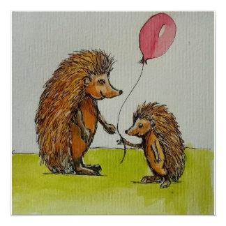 Cartão Ouriço da ilustração das crianças