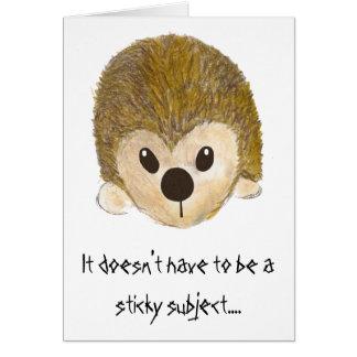 Cartão Ouriço do aniversário