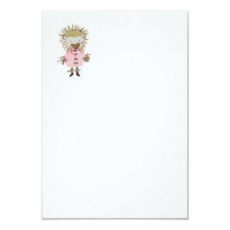 Cartão Ouriço pintado mão bonito dos amigos da floresta