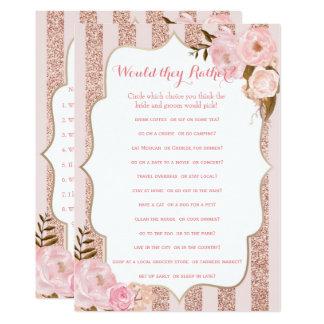 Cartão Ouro 2 cor-de-rosa e jogos cor-de-rosa do chá de