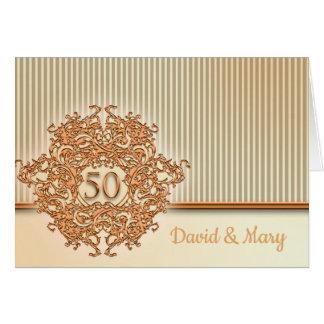Cartão Ouro, 50th aniversário de casamento