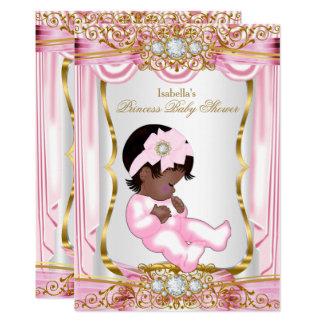 Cartão Ouro bonito étnico da seda do rosa da princesa chá