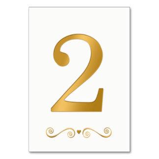 Cartão Ouro brilhante elegante número metálico 2 do falso