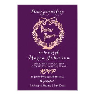 Cartão Ouro cor-de-rosa da ameixa da grinalda das