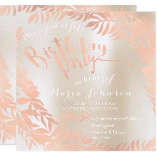 Cartão Ouro cor-de-rosa da pérola do marfim da grinalda