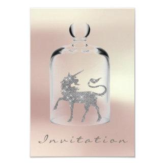 Cartão Ouro cor-de-rosa da prata nupcial das meninas do