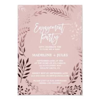 Cartão Ouro cor-de-rosa elegante e festa de noivado