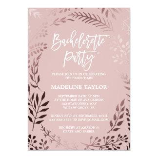 Cartão Ouro cor-de-rosa elegante e festa de solteira