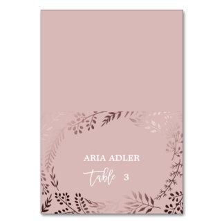 Cartão Ouro cor-de-rosa elegante e lugar cor-de-rosa da