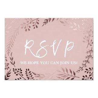 Cartão Ouro cor-de-rosa elegante e pedido cor-de-rosa