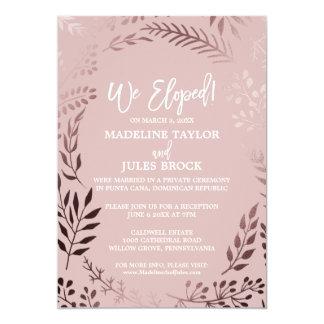 Cartão Ouro cor-de-rosa elegante e recepção cor-de-rosa