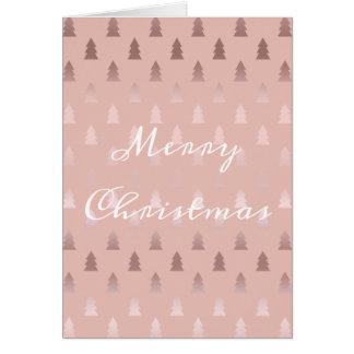 Cartão Ouro cor-de-rosa elegante e teste padrão