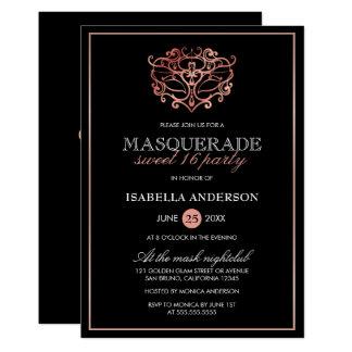 Cartão Ouro cor-de-rosa & tipografia preta do doce 16 do