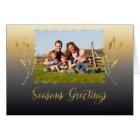 Cartão Ouro da faísca dos cumprimentos das estações