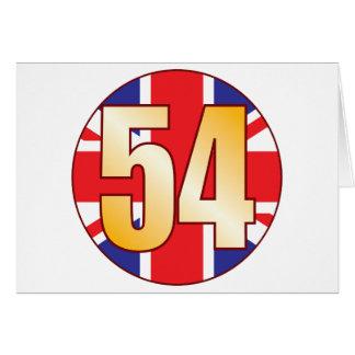 Cartão Ouro de 54 Reino Unido