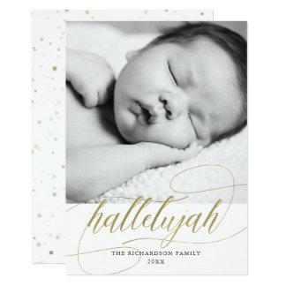 Cartão Ouro do falso da aleluia | do Natal com foto
