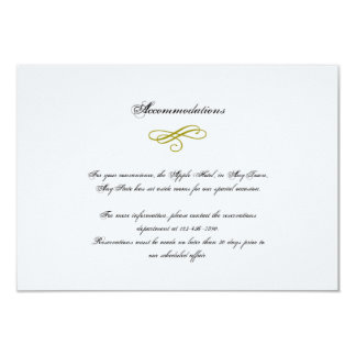 Cartão Ouro e inserção branca do casamento da pena do