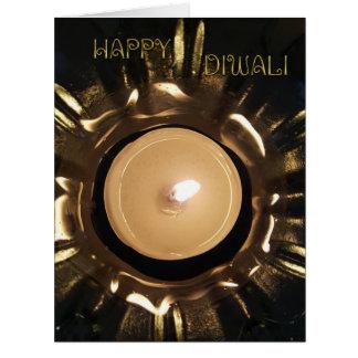 Cartão Ouro feliz elegante do preto da luz da vela de