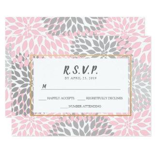 Cartão Ouro floral do ouro cor-de-rosa na moda que